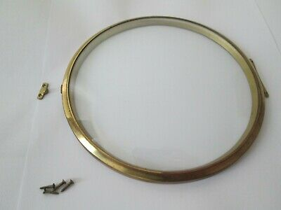 Smiths Brass Bezel And Glass For Mantel Clock With Catch And Screws