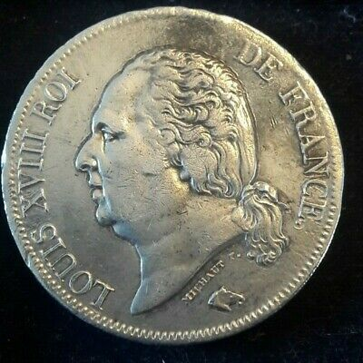 5 Francs, 1816 <==> 1824 A B D K W France, Louis XVIII KM# 711 TB Choix !!