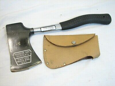 Vintage Herter's Hudson Bay Hatchet Camping Axe Wood Tool with Sheath