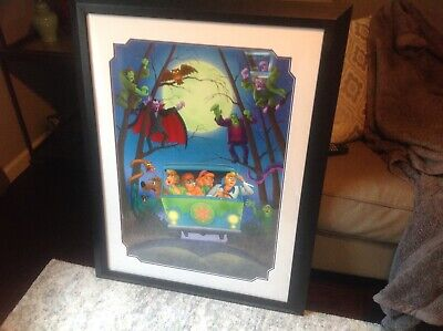 Limited Edition Scooby Doo Count Frankenstein Serial Lithograph Rare 2004 Framed