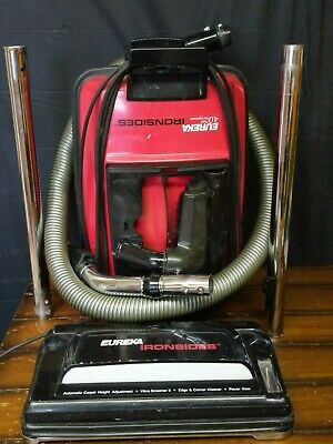 Excellent Eureka 1789 Ironsides Metal Canister Vacuum Cleaner with Accessories