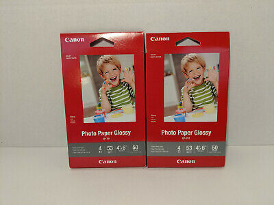 Canon Inkjet Photo Paper Glossy, 4 x 6 Inches, GP-701, 50 Sheets x 2 [New]