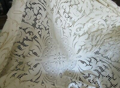 2 Lace Tablecloths - one marked QUAKER - AS IS - Estate