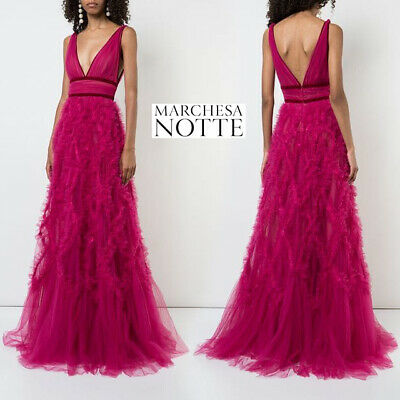 1295 New Marchesa Notte Lace Liqué Tulle Ball Gown Berry