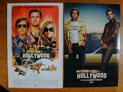ONCE UPON A TIME IN HOLLYWOOD 2019 TWO VERS. SET TARANTINO PITT DiCAPRIO 11 X 17