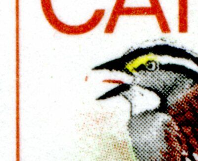 Weeda Canada 496i VF MNH LL PB, 'Flycatcher' variety at position 41 CV $60