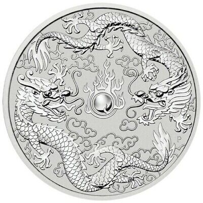 2019 Australian Double Dragon 1oz .9999 Silver Bullion Coin - The Perth Mint
