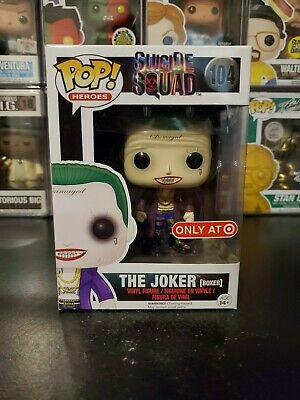 Funko Pop! Suicide Squad The Joker Boxer #104 Target Exclusive WITH PROTECTOR!