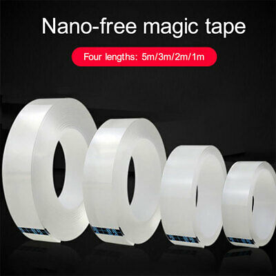 1/2M Double Side Nano Tape Grip Transparent Sticky Pads Adhesive Gel Tape