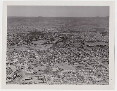 Large aerial PHOTO of Adelaide South Australia looking east c1955-60