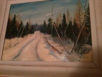 Canadian winter oil painting
