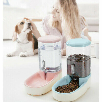 NEW 3.8L Large Auto Pet Feeder Dog Cat Water Drinker Food Bowl Holiday Dispenser