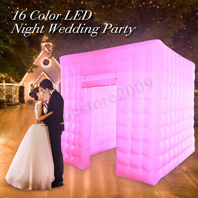 Inflatable LED Photo Booth Lighting 2.5M Air Tent Wedding Party Events Cube 110V