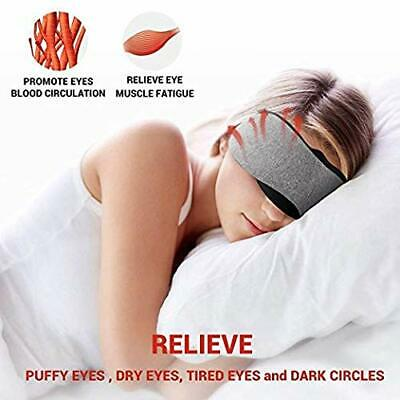 Dr. prepare Heated Eye Mask USB Powered Time Temperature Control Hot Steam Masks