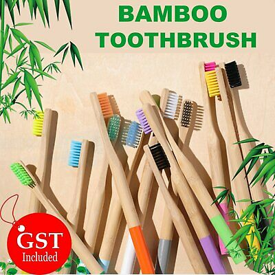 UP TO 20x Pure Bamboo Natural Toothbrush Environmental Friendly Eco Adult Medium