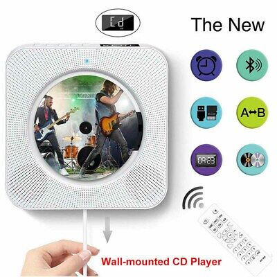 Wall Mounted LCD Display CD Player FM Radio Bluetooth MP3 Player Remote Control