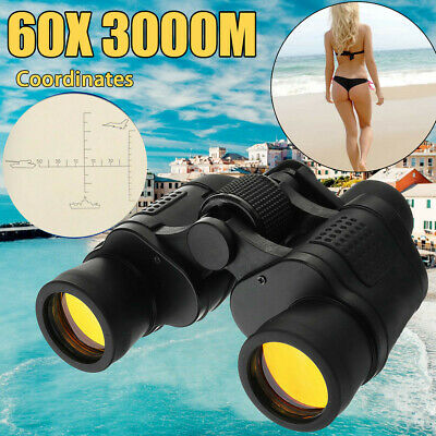 60X60 Zoom Day Night Vision Outdoor Travel HD Binoculars Hunting Telescope HG US