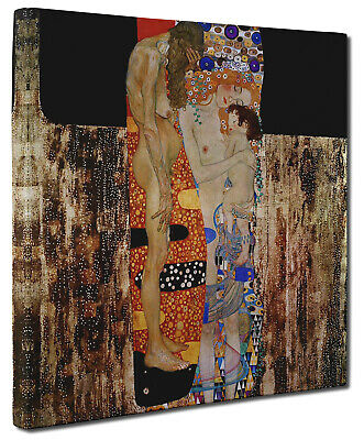 Gustav Klimt THE THREE AGES OF WOMEN Canvas Print Picture Wall Art Square
