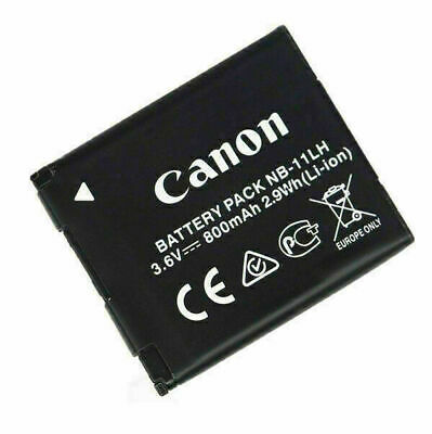 NEW Genuine Canon Battery Pack NB-11LH NB-11L 3.6v, 800mAh 2.9Wh (Li-ion) UK