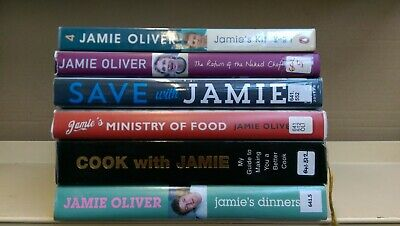 COOKERY: Jamie Oliver: job lot box of 6 cooking/cook books