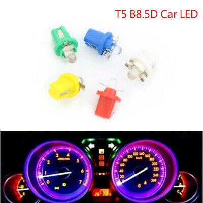 10X 12V B8.5D T5 W3W Car Gauge LED Wedge Dashboard Dash Interior Light Bulb Lamp