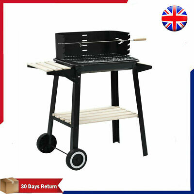 Charcoal BBQ Grill Stand with Wheels Outdoor Garden Patio Cooker Barbecue