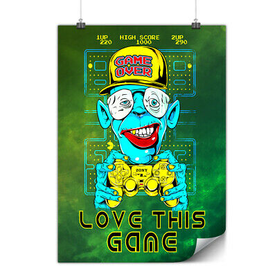 Game Over Monkey Matte/Glossy Poster | Wellcoda