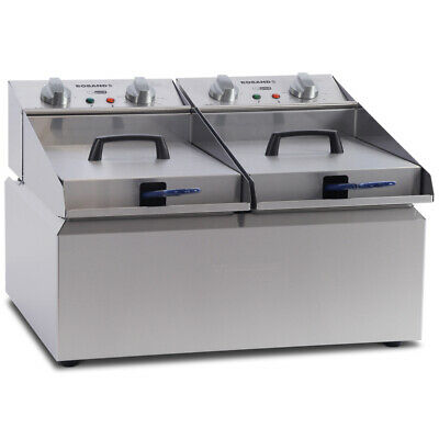 Roband Double 8L Pan 2 Basket Counter Top Commercial Frypod Fryer FR28