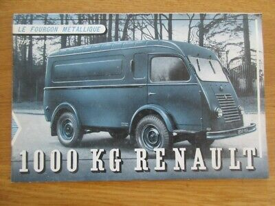 Catalogue Pub  Original Renault Fourgon Metallique 1000 Kg Goelette R2060