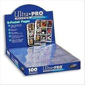 Ultra Pro Silver 9 Card Pocket Pages x30 Sleeves New Trading Cards