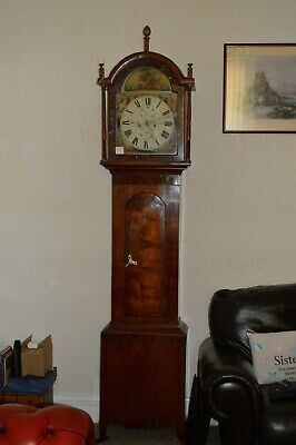 Mahogany 8 Day Grand Father Clock H Ayre Newcastle