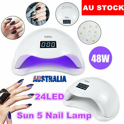 SUN 5 Nail Lamp 48W LED UV Light Gel Polish Nail Dryer Manicure Art Curing AU
