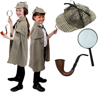 X2 SHERLOCK HOLMES PIPE FANCY DRESS COSTUME ACCESSORIES 1920/'S 1940/'S BOOK DAY