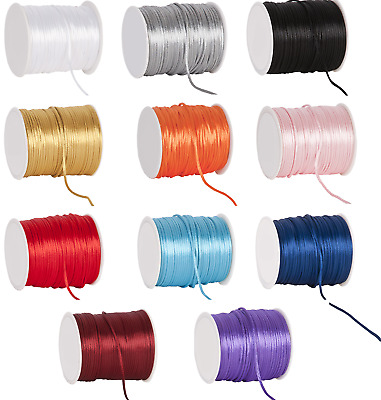 Rattail cord 2mm 4 lengths jewellery laces string satin shamballa kumihimo
