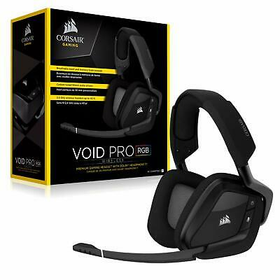2e240e6bee5 CORSAIR Void PRO Wireless RGB Gaming Headset Dolby 7.1 Surround Sound PC