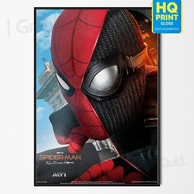 Spiderman Far From Home Art Print Poster Marvel Movie 2019 | A4 A3 A2 A1