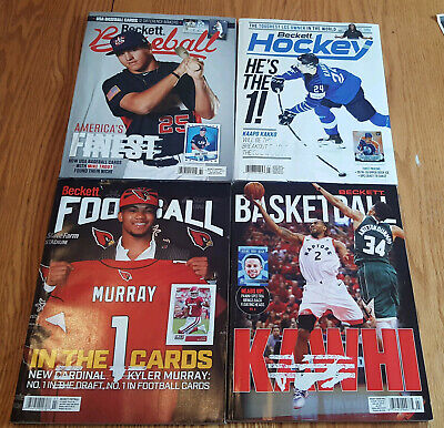 Four July 2019 Beckett Card Price Guides Baseball Basketball Football Hockey