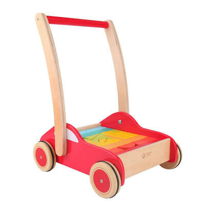 Brand new in box Classic world first step wooden car walker with blocks 12 m+