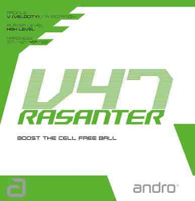 TABLE TENNIS RUBBER: Andro Rasanter V47 Rubber