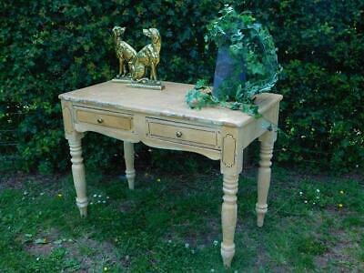 A Good Early Antique Hand Decorated Stencilled Painted Side Table