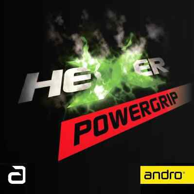 TABLE TENNIS RUBBER: Andro Hexer Powergrip