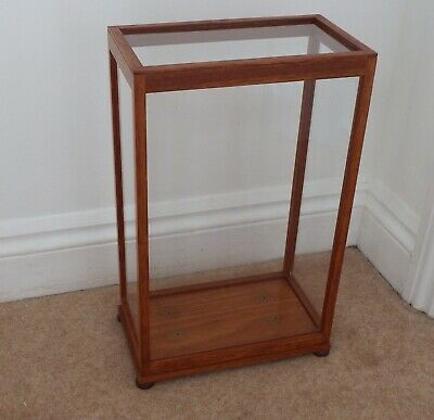 Glass & Teak Case suitable for Clock/Taxidermy 45cm High 28cm Length 16cm Depth