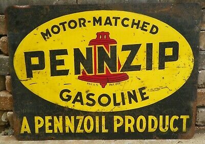 """24/"""" PENNZOIL OWLS LUBSTER OIL CAN GASOLINE GAS DECAL"""