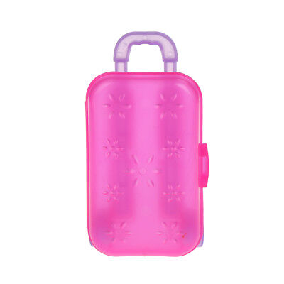 Miniature luggage box clear travel suitcase for dollhouse decora BSC