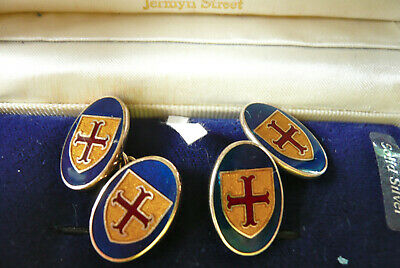 760a2d84ad121 VINTAGE SOLID SILVER H.Samuel Hallmarked Cufflinks &Tie Pin. Boxed ...