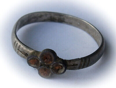 ANTIQUE Ring 15-17th STERLING SILVER Ukraine OLD Eastern EUROPE Jewelry Size 10