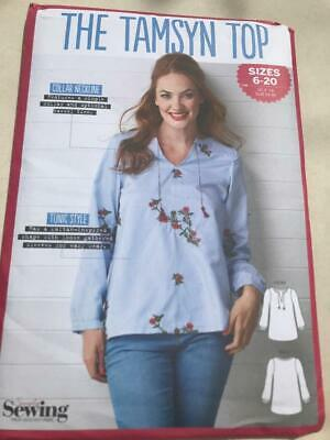 The Tamsyn Top  Sizes 6-20 Simply Sewing Pattern Uncut