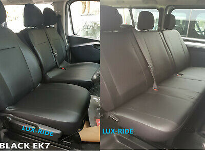 VAUXHALL VIVARO 2014 PRESENT ECO LEATHER TAILORED SEAT COVERS MADE TO MEASURE