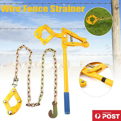Wire Fencing Strainer Plain Barbed Electric Fence Energiser Chain Repair AU SHIP