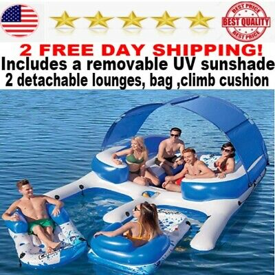 Bestway floating island 8 Person Pool Lake Raft river water adults inflatable